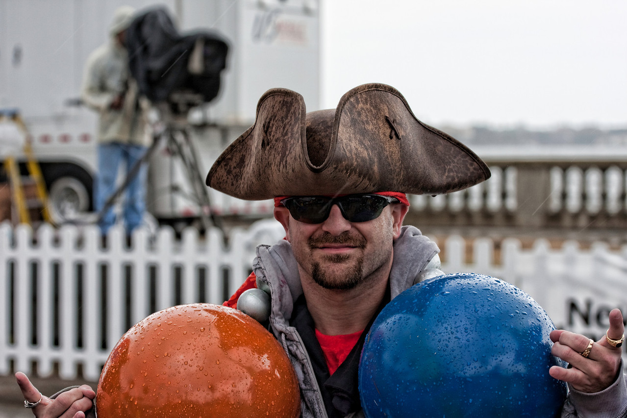 Pirate with huge beads.