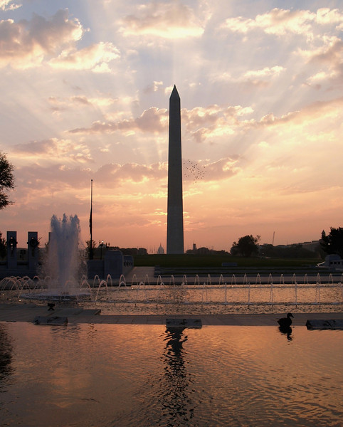 Washington Monument sunrise, Washington DC.