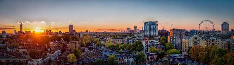 Sunset over Battersea