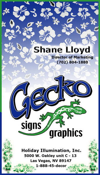 Gecko Sign Graphics