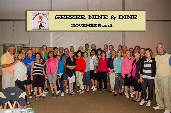 Geezer Nine & Dine - Nov 2014
