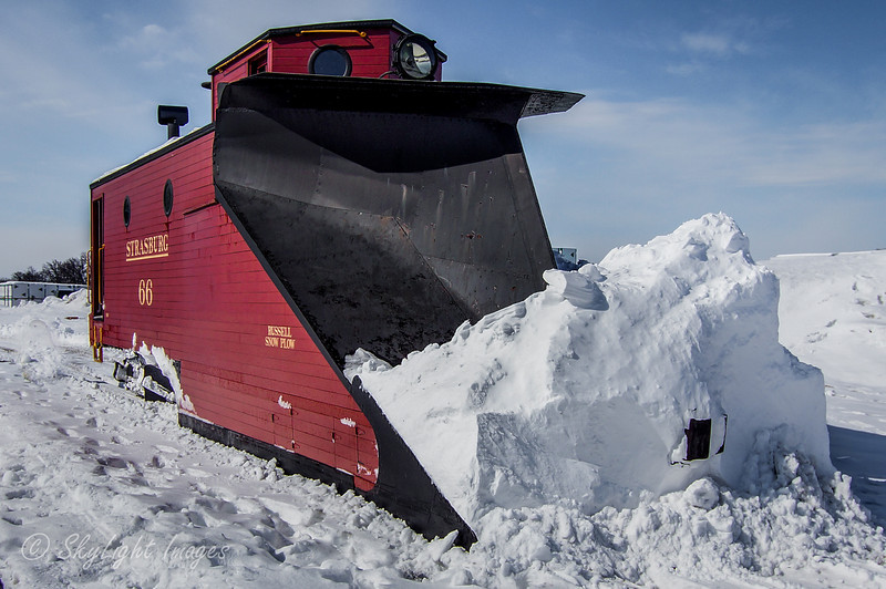 Railroad Snow Plow