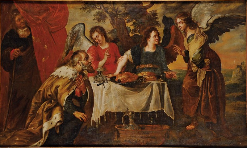 Antoon_Sallaert_(Attr)_-_Abraham_and_the_three_angels