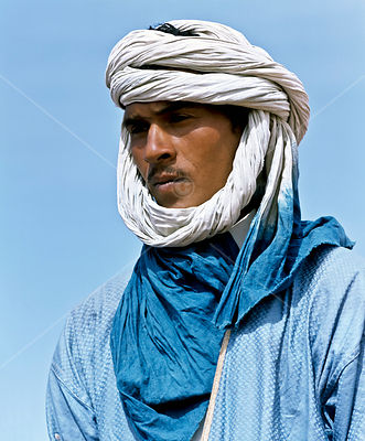 Blue Man, Pre Sahara, Morocco