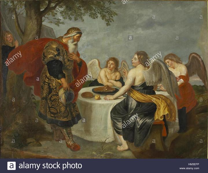 Hieronymus Francken (II) - Abraham meets the three angels