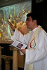 Fr. Ciro Moschetta leads the music.
