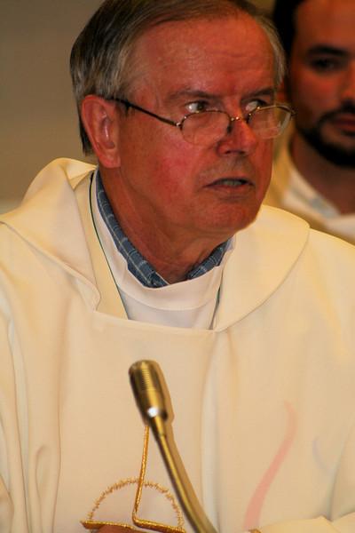 Fr. John van den Hengel during Friday's Mass.