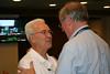 Fr. Claudio Weber congratulates Fr. John.
