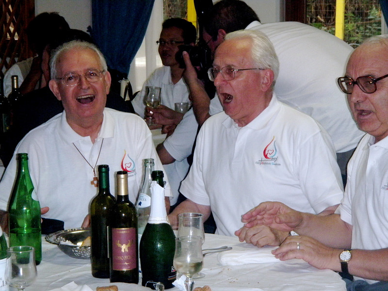 Singing for their supper at Frascati