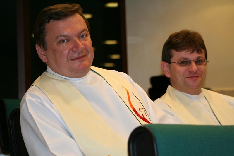Outgoing general councilor Fr. Zbigniew Bogacz.