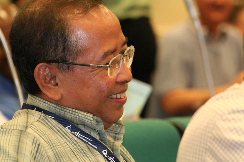 Fr. Sugino of Indonesia listens as the votes are counted for the first councilor.