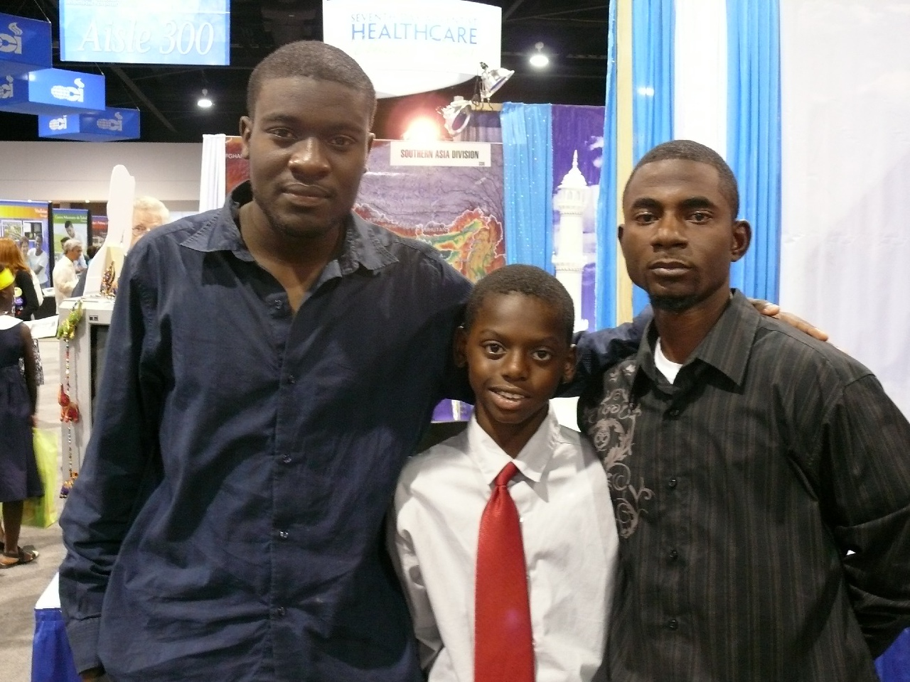 The young man on the right was visiting at the General Conference from Haiti.  He had been there during the huge earthquake some months before.