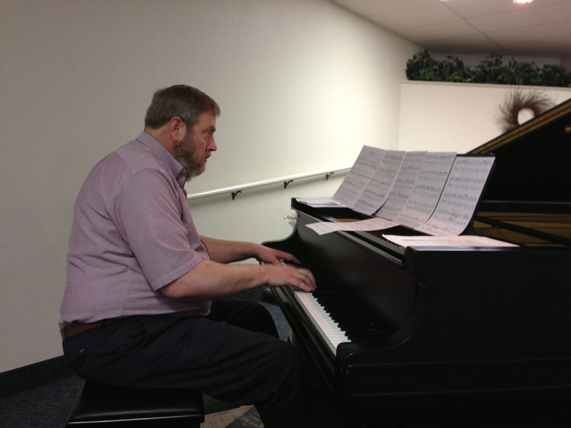 John, our very talented pianist.
