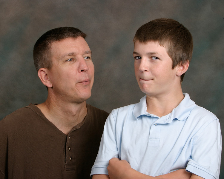 Son and Grandson, Having fun while getting their pictures taken.