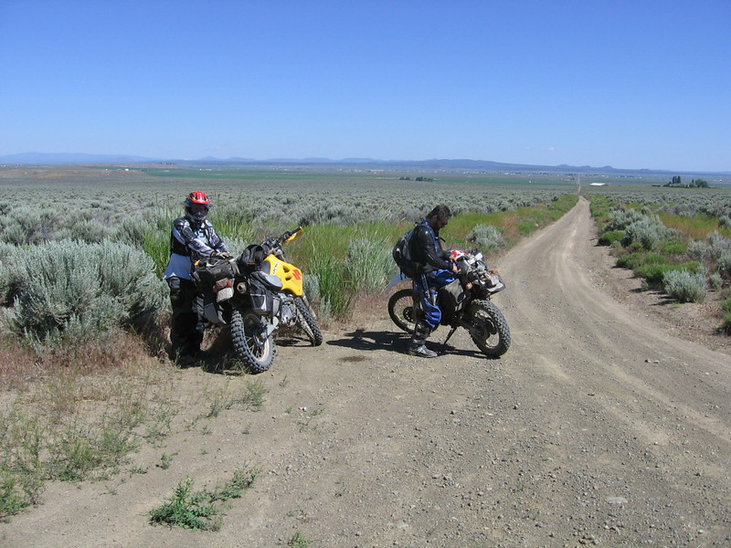Me with my yellow DRZ and my buddy riding in the ODBR ride.