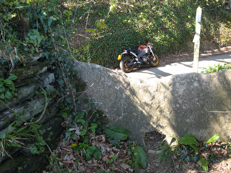 Buell in a lane