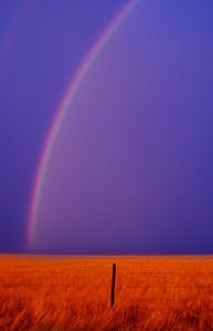 Rainbow at sunset near Limon Colorado July 2008