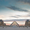 Sunset at the Louvre.