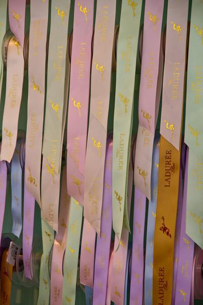 Ribbons at Laduree