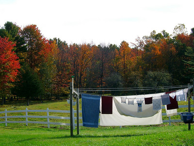 Fall laundry in Maine. 10/06