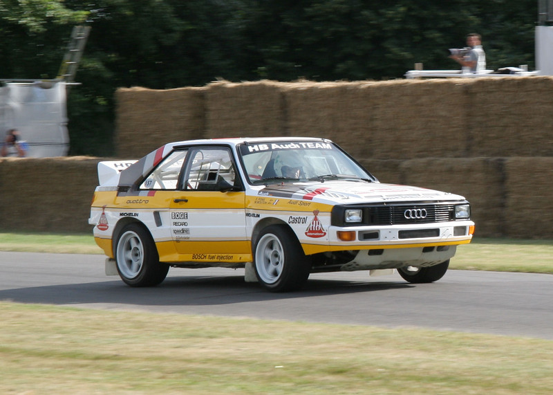 Michèle Mouton's  Audi Sport Quattro at the 2006 Goodwood Festival of Speed.