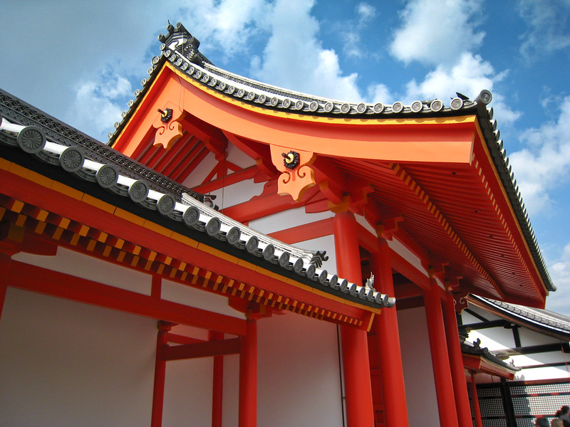 Dramatic roofline of the Kyoto Imperial Palace