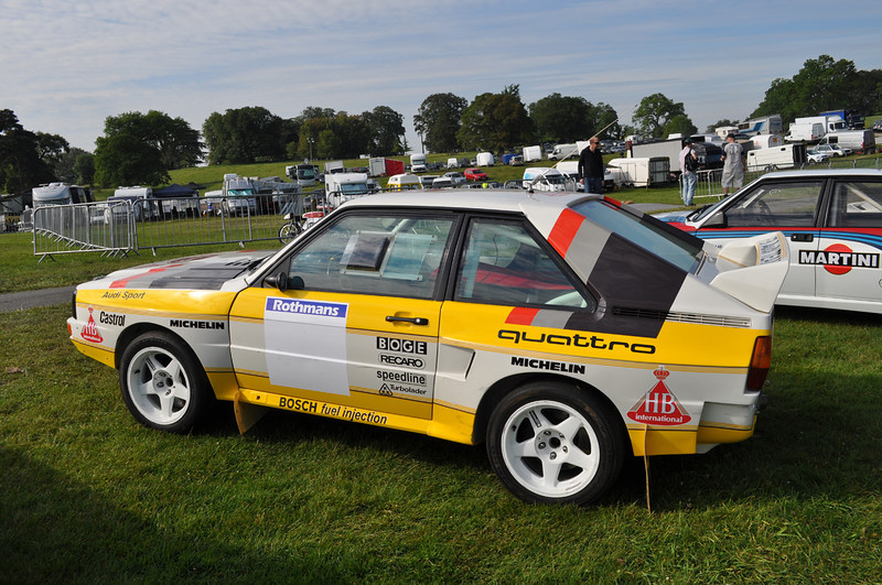 Michèle Mouton's 1984 Audi Quattro S1.  She set a world record at the Pikes Peak Hill Climb in this car in 1985.