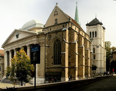 Geneva and St Peter's Cathedral, Switerzland