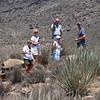 Everyone around a found geocache.  www.geocaching .com