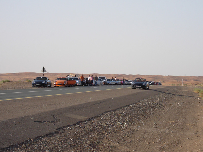 Apparently, its Porsche day in the middle of the desert!