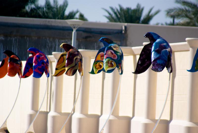 Falcon<br /> <br /> These bird statues are found all around Dubai.