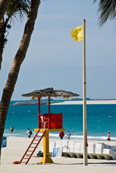 A lifeguard station at Jumeirah public beach.