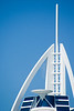 The spire of the Burj Al Arab, UAE.