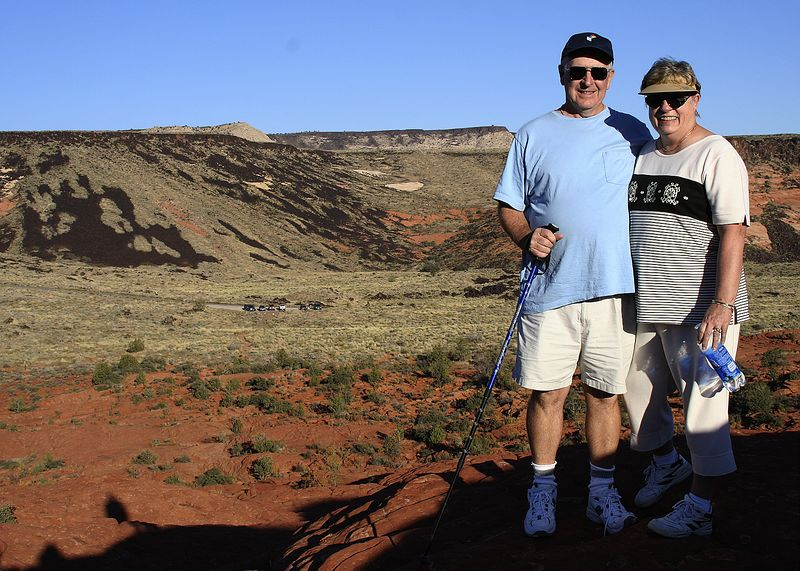 """Ed and Sandy @ Snow Canyon State Park - Utah - <a href=""""http://www.stateparks.utah.gov/park_pages/scenicparkpage.php?id=scsp"""">http://www.stateparks.utah.gov/park_pages/scenicparkpage.php?id=scsp</a>"""