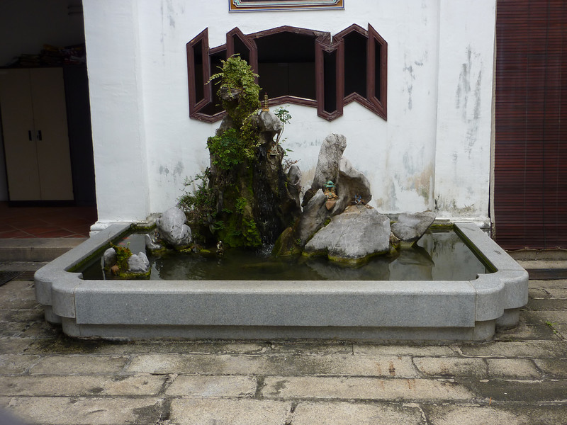 Han Jiang ancestral hall (clan building) beautiful pond