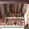 Han Jiang ancestral hall (clan building) roof supports, beautifully carved and painted.