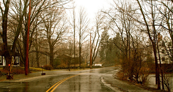 Looking west on Elm Street from in front of my house at 98 Elm Street.
