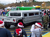Santa's sleigh this year was a long stretched Hummer.