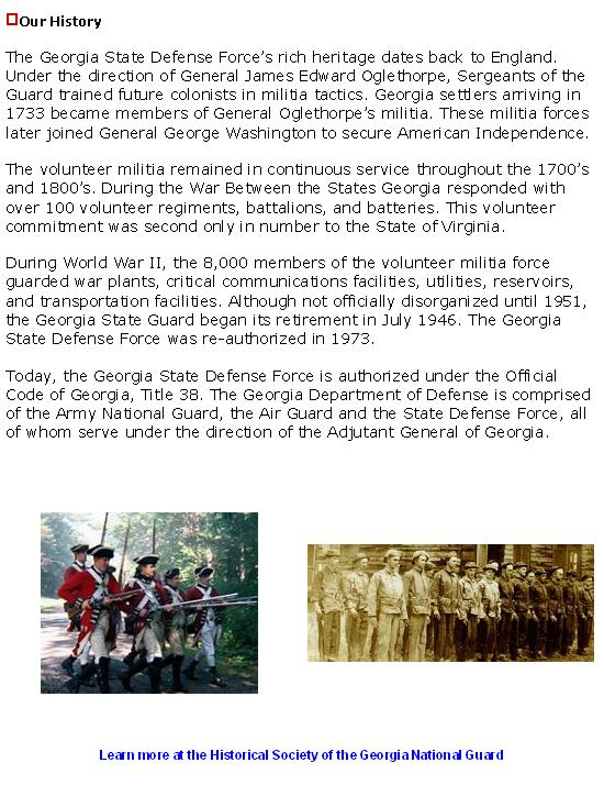 A little history of the GSDF.