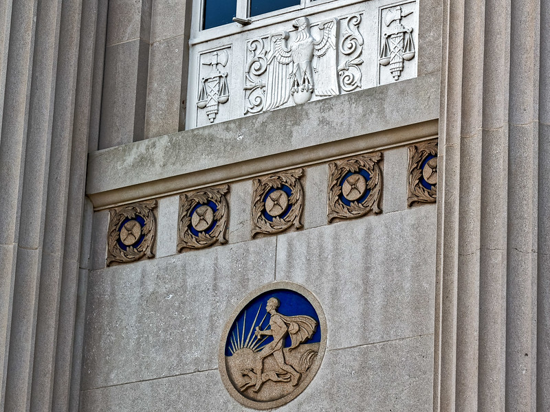 Sculpture on United States Courthouse Columbus