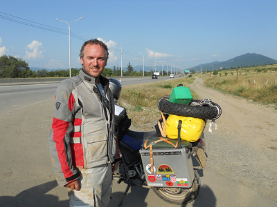 Knackered and ready-ish for the last 40km to Tbilisi.