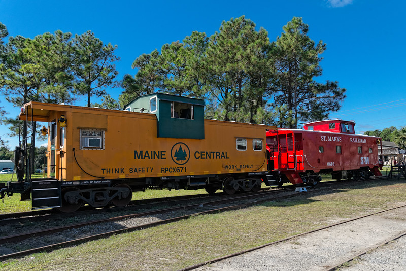 Maine Central and St. Marys Railroad Cabooses