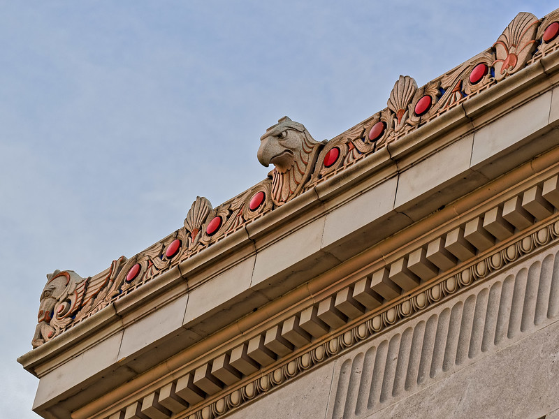 Roof Carving on Columbus Post Office Building