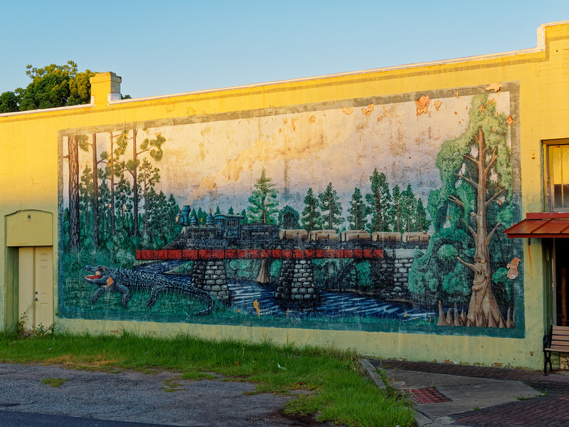 Okefenookee Railroad Mural