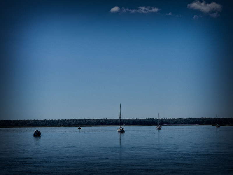 Sailboats at anchor in St. Marys