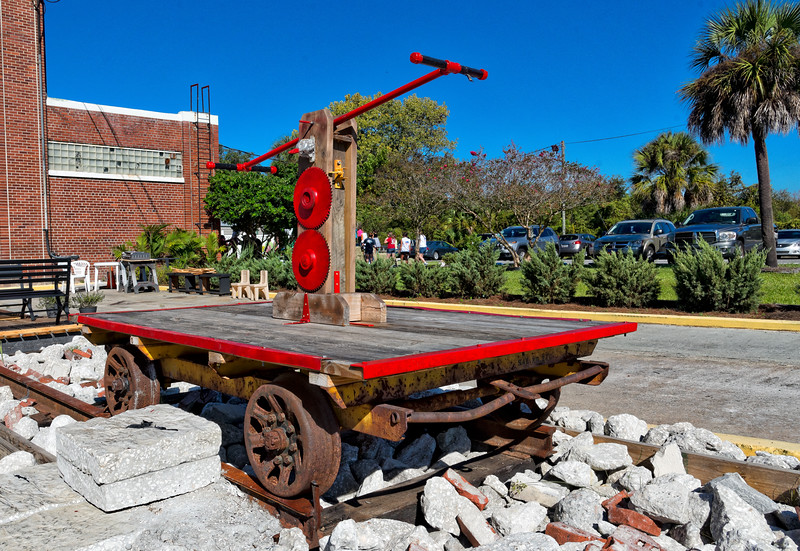 Railroad Handcart at St. Marys Station