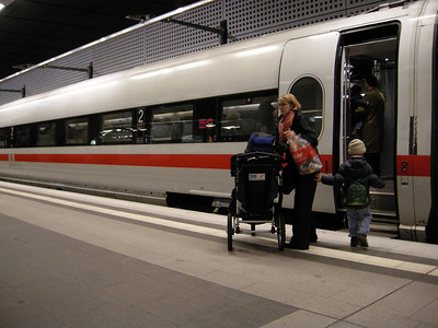 our Zug (train) car to go to Hamburg.  Very modern and nice.