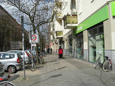 our apt is at the end of this block in Berlin= Prenzlauer Berg neighbothood