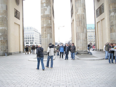 Brandenburg gate - used to separate East from West