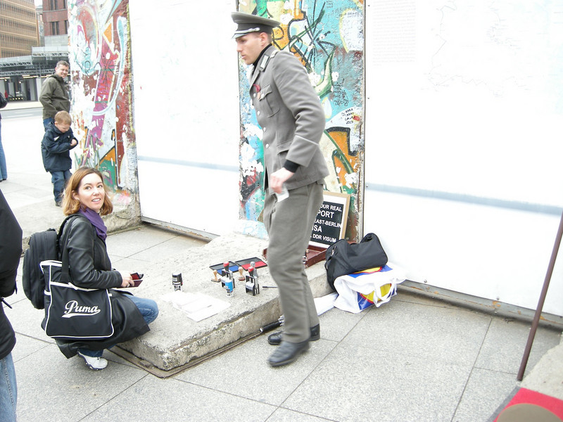 on East GErman side of old Berlin Wall